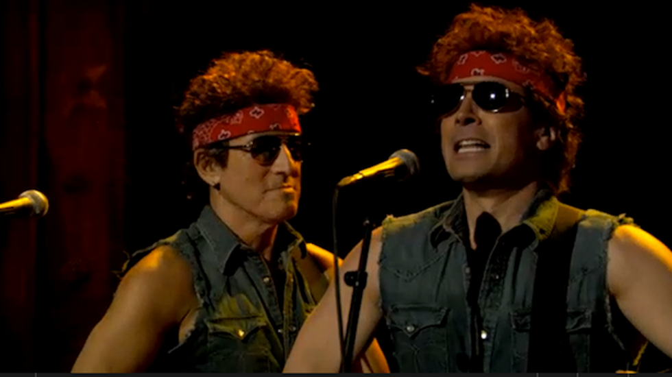 Springsteen joins Jimmy Fallon in hilarious 'Born to Run' parody mocking Christie