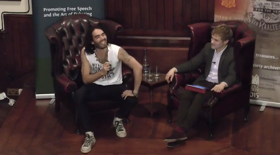 Russell Brand rules out 'little ejaculations' like voting -- he wants revolution 'b*kkake'