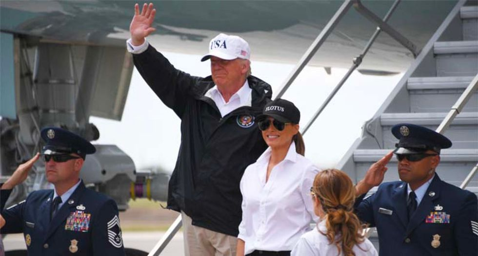 Trump bragged that he witnessed Hurricane Harvey 'first hand' -- he didn't