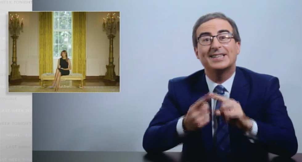 John Oliver dunks on Melania Trump's bizarre Junteenth message as qualifying 'as a hate crime in 12 states'