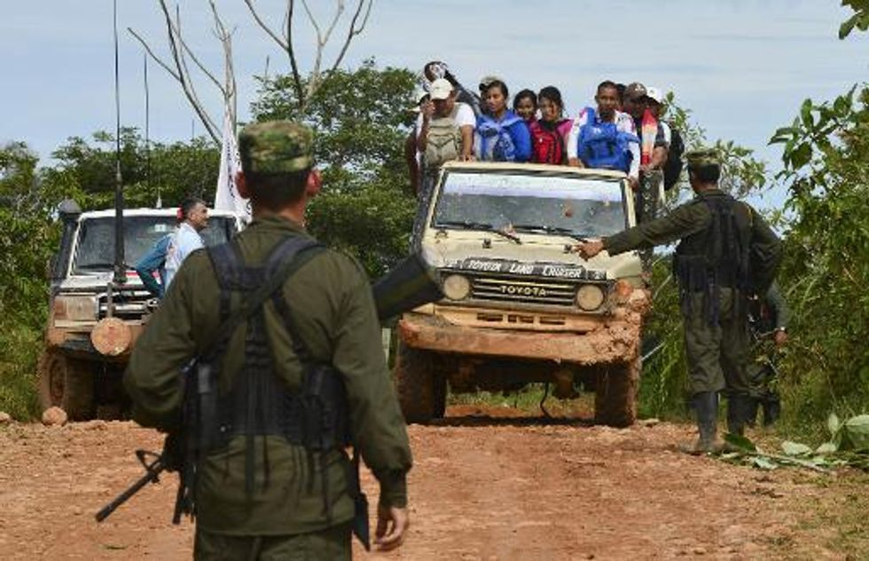 At least nine FARC rebels killed in Colombia