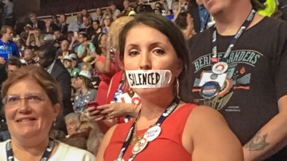Exposed: Bernie delegate with 'silenced' tape on her mouth sells Upworthy viral sponsored content