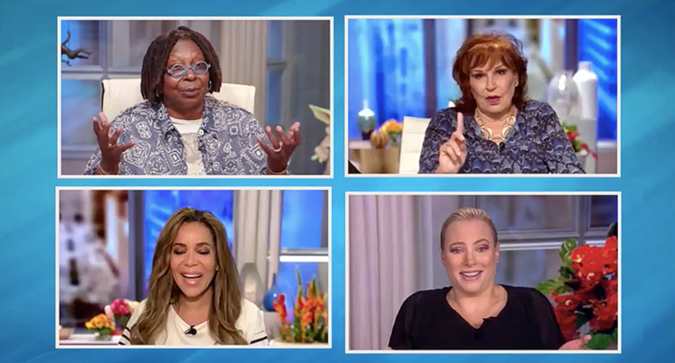 'A mid-level 80s band is what he got': The View's Meghan McCain mocks Trump's Tulsa 'very small' crowd size