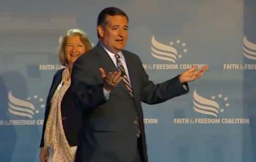 WATCH: Ted Cruz's mic gets cut halfway through remarks to Christian conference
