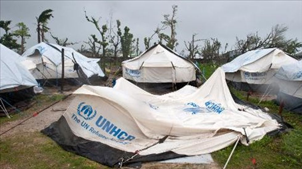 New cyclone wrecks Philippines typhoon victims' shelters