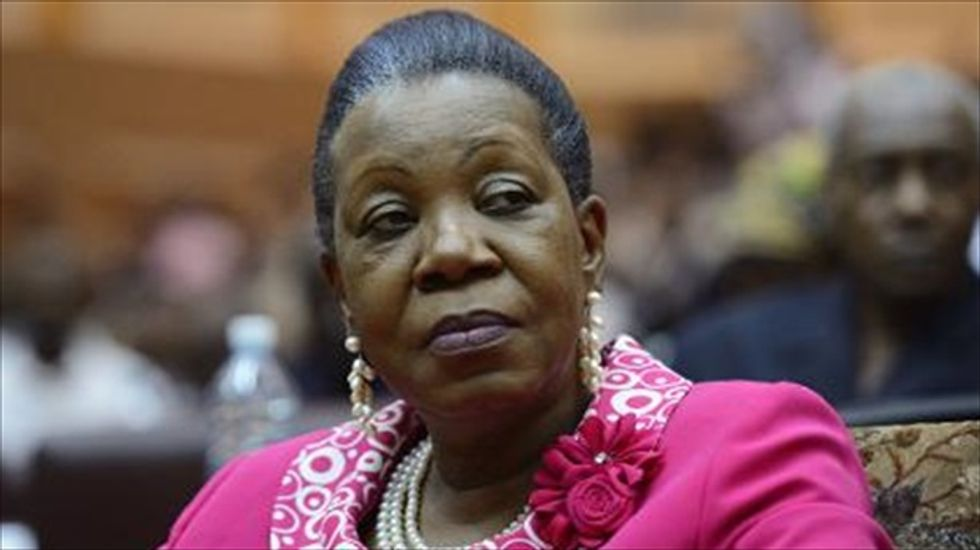 Central African lawmakers elect country's first woman president