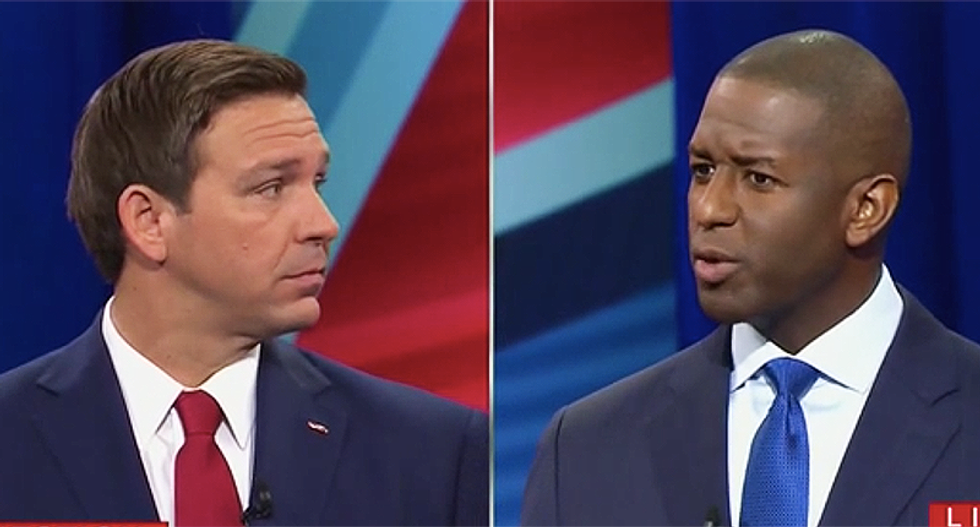 Audience howls as Andrew Gillum smacks Ron DeSantis for weirdly pivoting to Israel when asked about Donald Trump