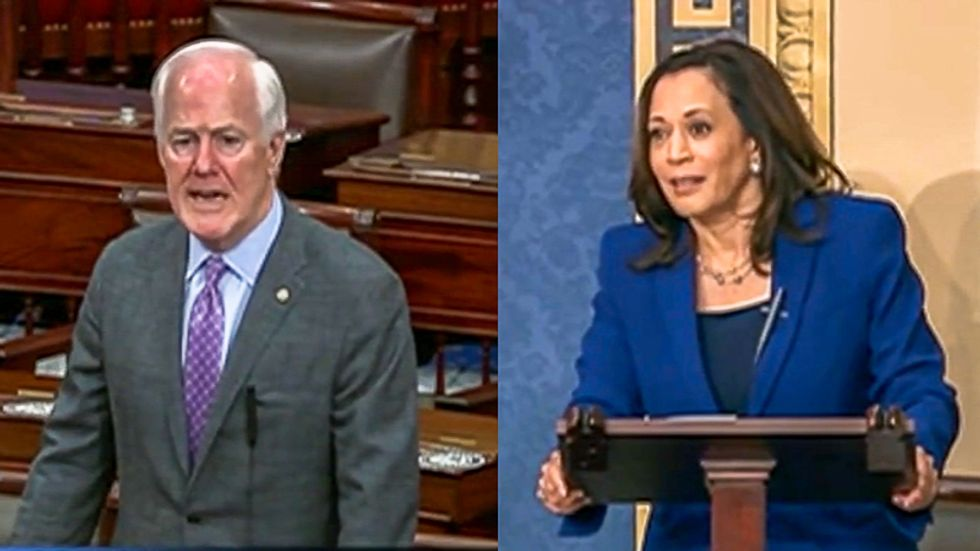 Kamala Harris silences GOP senator on live TV for orchestrating 'distraction' on police reform