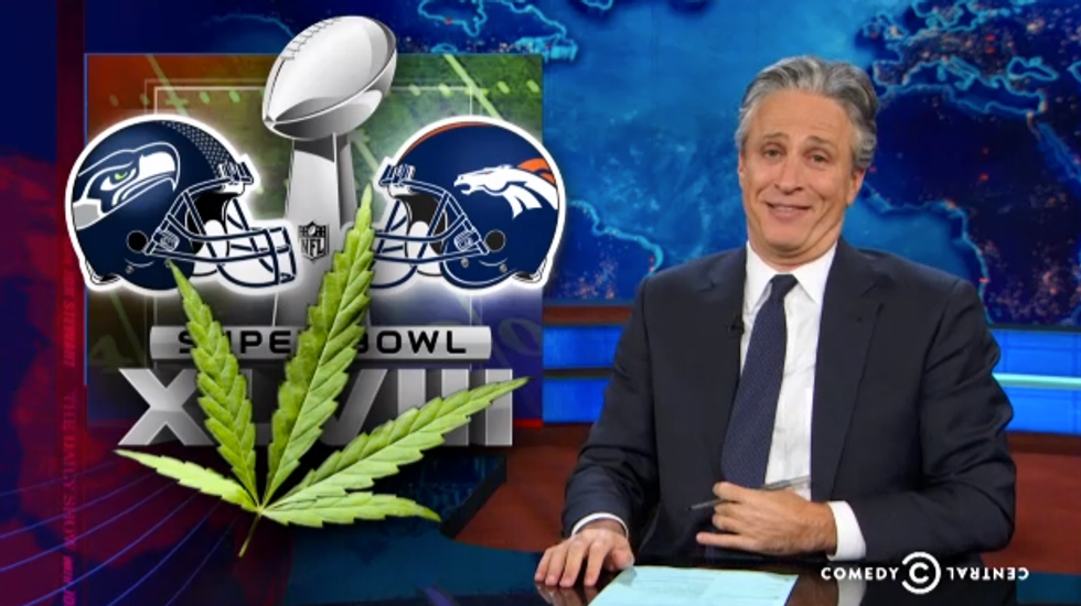 Jon Stewart: Velveeta shortage could be buzzkill for Broncos-Seahawks Toke Bowl