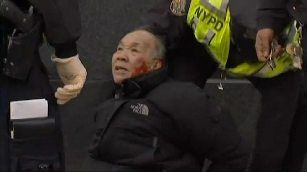 Elderly man beaten bloody by police during New York City jaywalking arrest