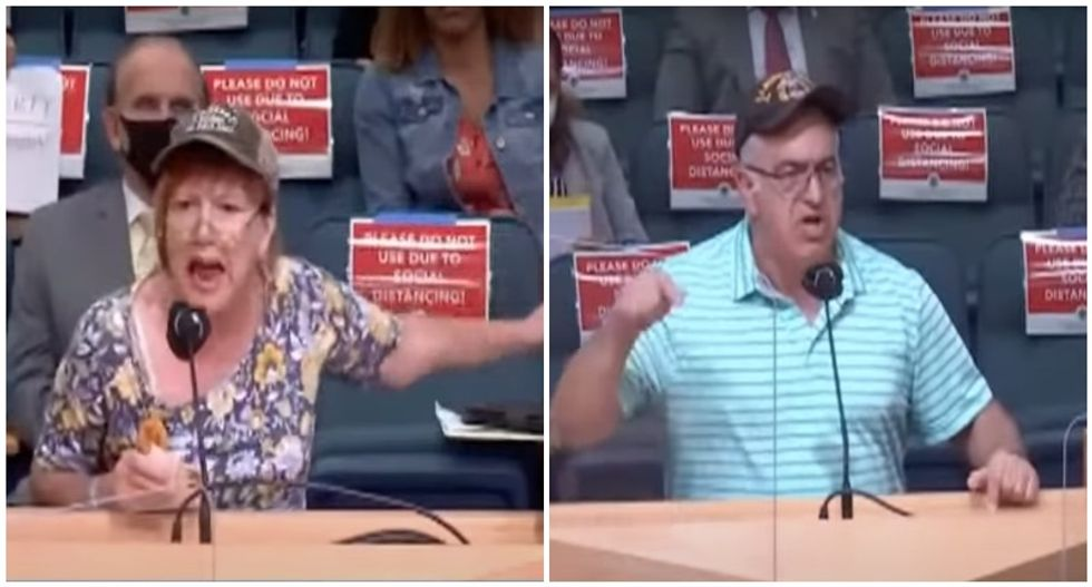 Trump 'patriots' ready to die for freedom scream at county commissioners because they don't want to wear face masks