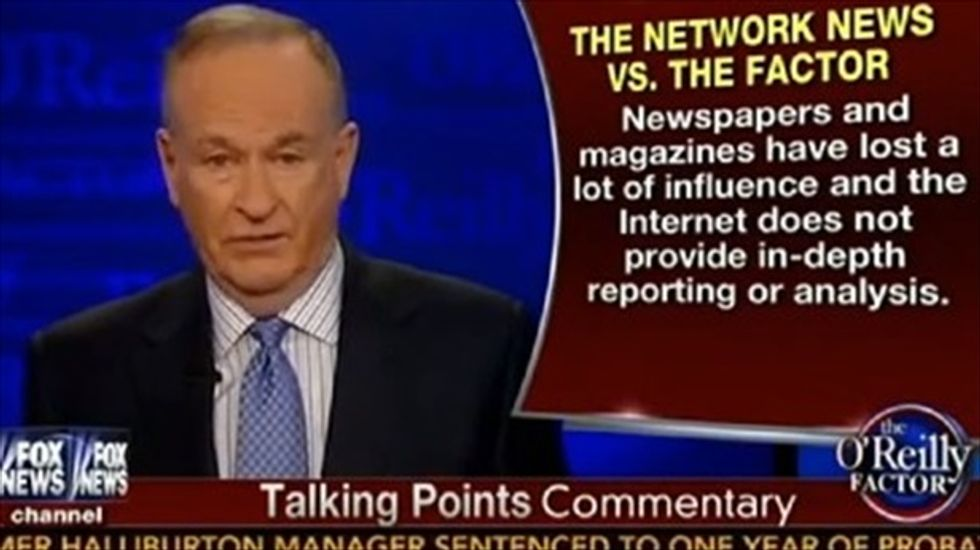 Bill O'Reilly tells Tom Brokaw: Cable news is better because Benghazi