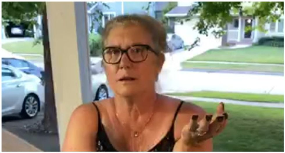 WATCH: Fuming woman arrested after confronting family over Black Lives Matter signs