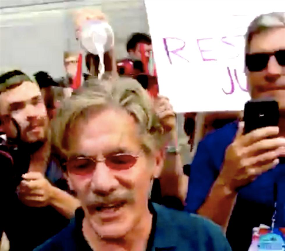 DNC protesters dump water on Fox News' Geraldo Rivera as crowd chants 'Shame!'