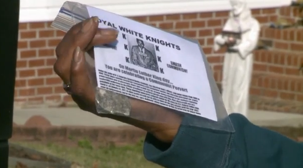 KKK marks MLK Day by handing out fliers branding King 'a communist pervert'
