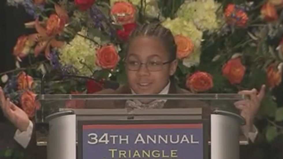 Ten-year-old wows MLK event with 'Jesus Wept' speech: I'm 'scared to wear my hoodie!'