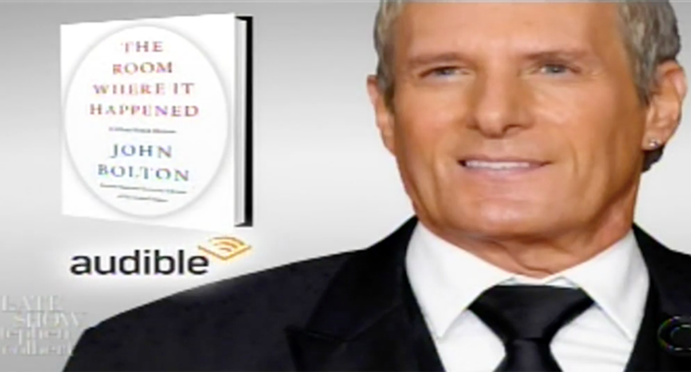 Stephen Colbert makes Michael Bolton sing John Bolton's book