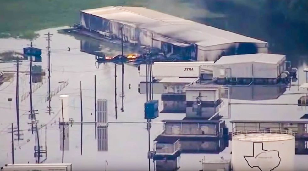 REVEALED: Burning Houston chemical plant successfully lobbied Trump to strike down safety rules
