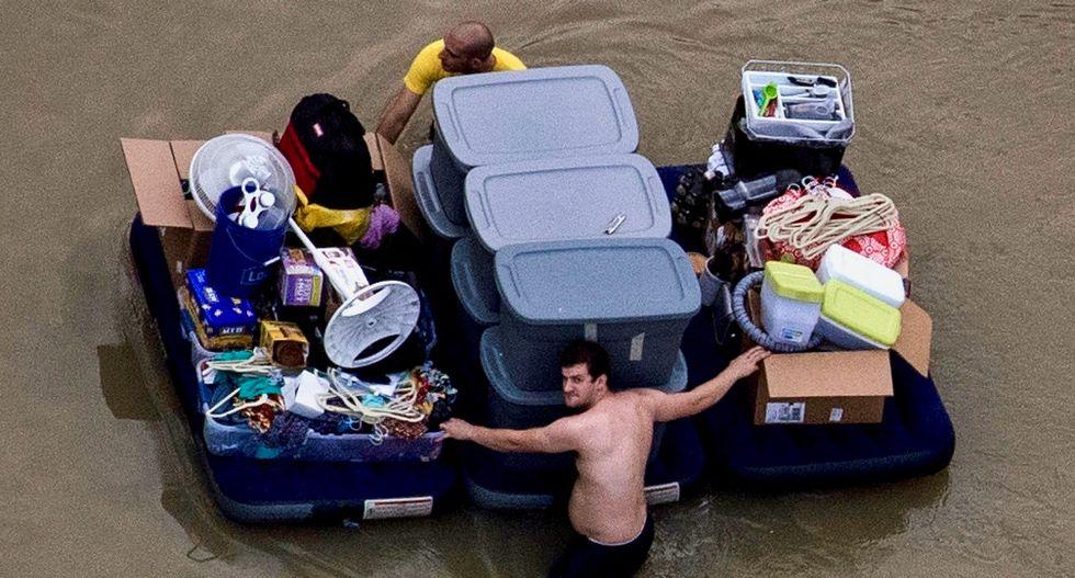 Thousands flee southeast Texas as Harvey floods cause havoc
