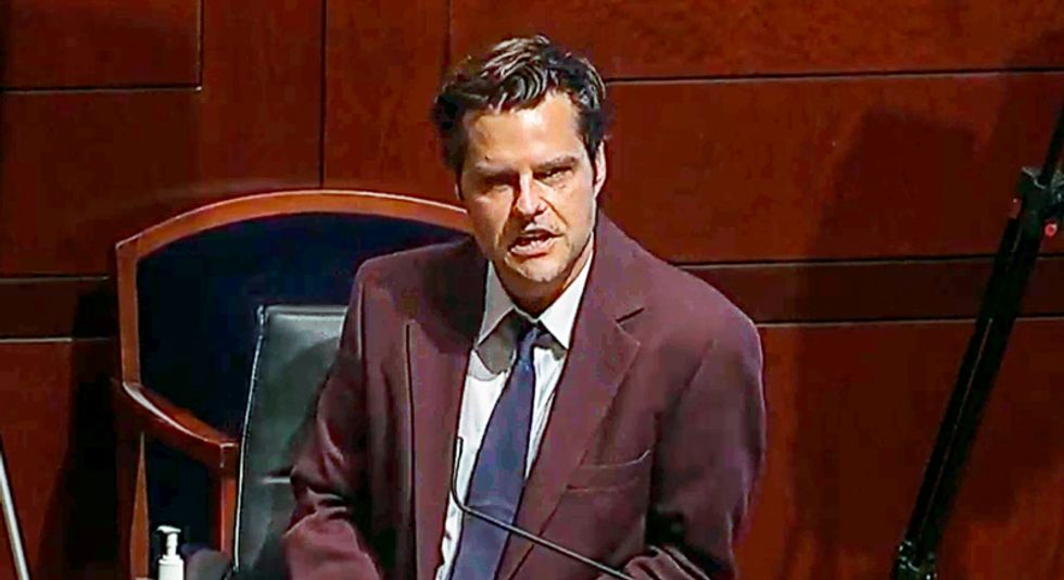 Matt Gaetz complains his history is 'being erased' by 'people who are ashamed' of the Confederacy