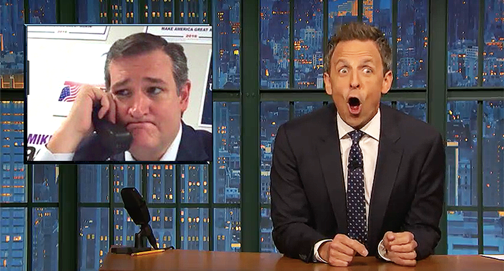 Seth Meyers: 'You can call Ted Cruz a lot of things but 'beautiful' is not one of them'