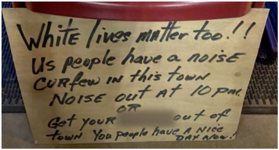 Black family cuts Texas vacation short after finding racist 'white lives matter' sign on their front door