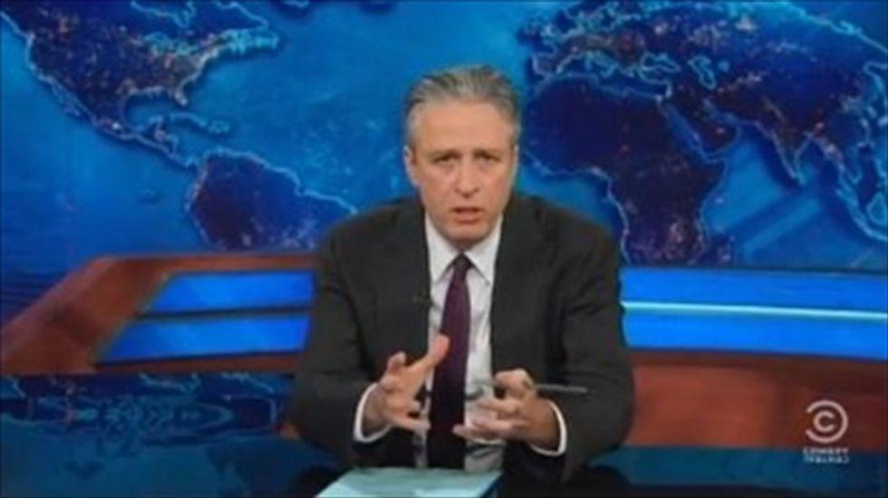 Jon Stewart mocks the media covering the 'frivolous and starf*cky' Davos forum