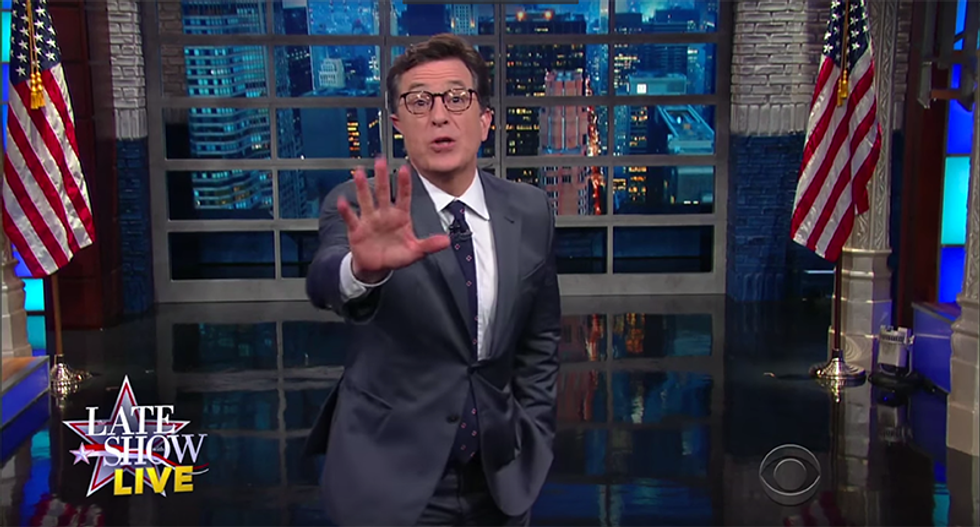 Watch Colbert on Trump: 'He's going to keep us in suspense on whether he'll wipe his fat ass with the Constitution'