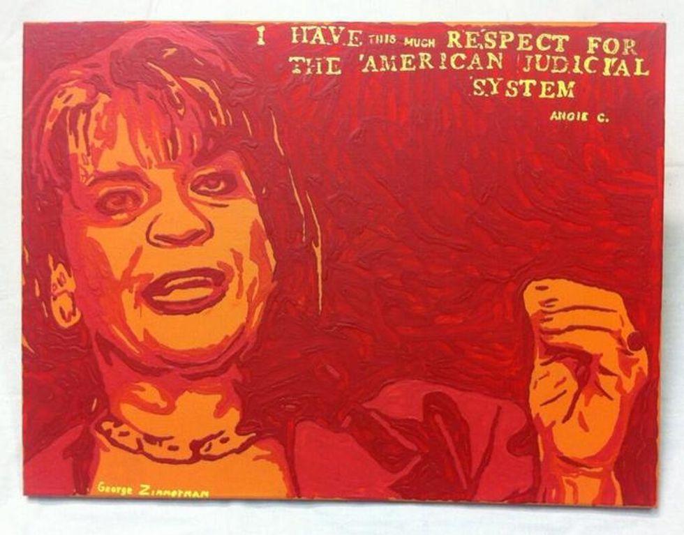 George Zimmerman takes shot at prosecutor Angela Corey in new painting
