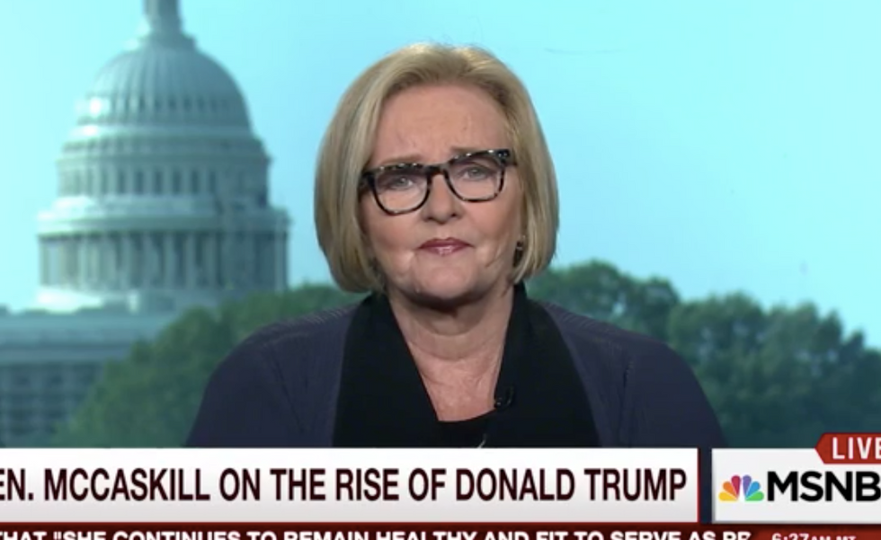 Watch Sen. Claire McCaskill mock Trump's Dr. Oz health stunt: 'Lord, talk about two snake oil salesmen'