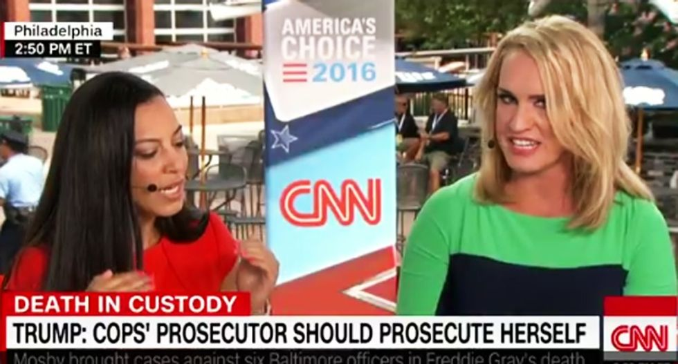 CNN's Trump booster goes ballistic with rant about Freddie Gray killing himself by 'jumping around'