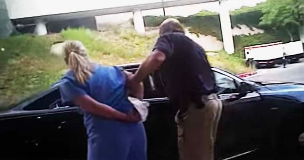 Disturbing video shows Utah nurse dragged away by out-of-control cop for refusing to draw unconscious patient's blood