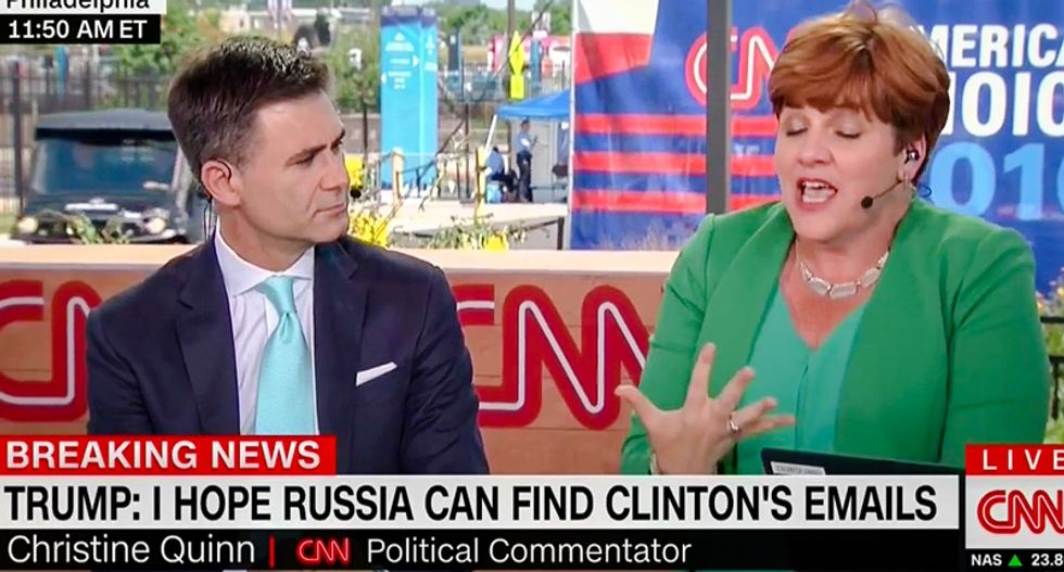 'This is almost treasonous': CNN panel rips Trump for calling on Russians to hack State Dept emails