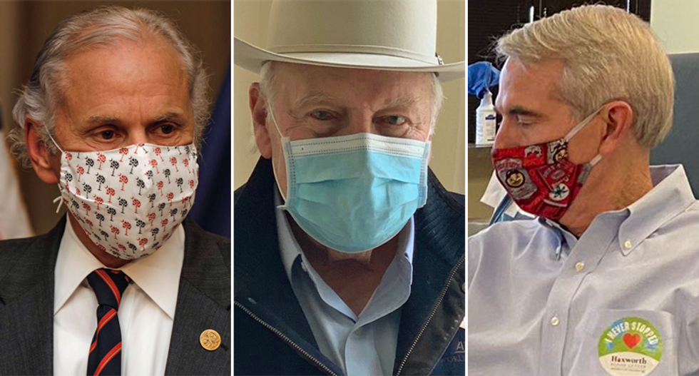 Republicans split with Trump on wearing masks as COVID-19 spikes in GOP states