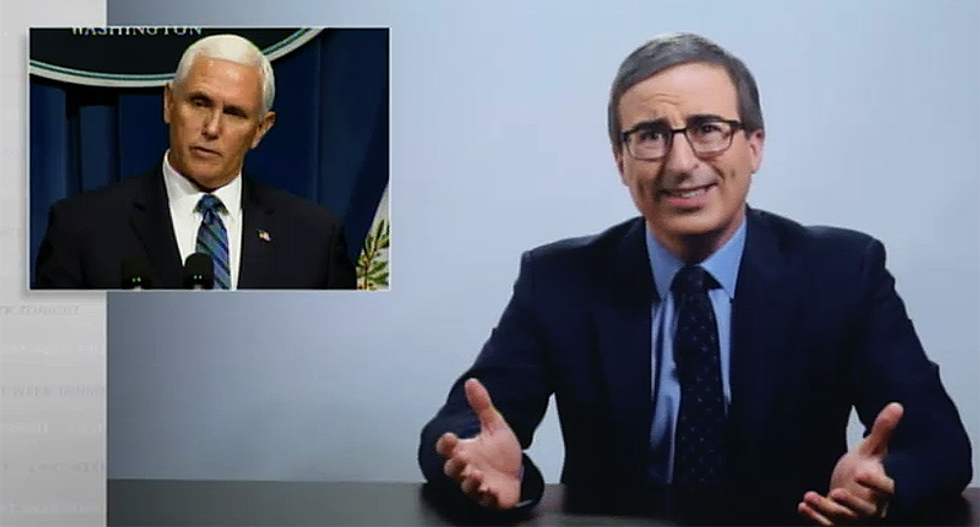 John Oliver unleashes on Mike Pence for 'open and stupid lie' about US victory against the coronavirus