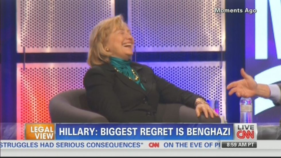 CNN sorry after clumsy edit shows Hillary Clinton 'laughing about' Benghazi deaths