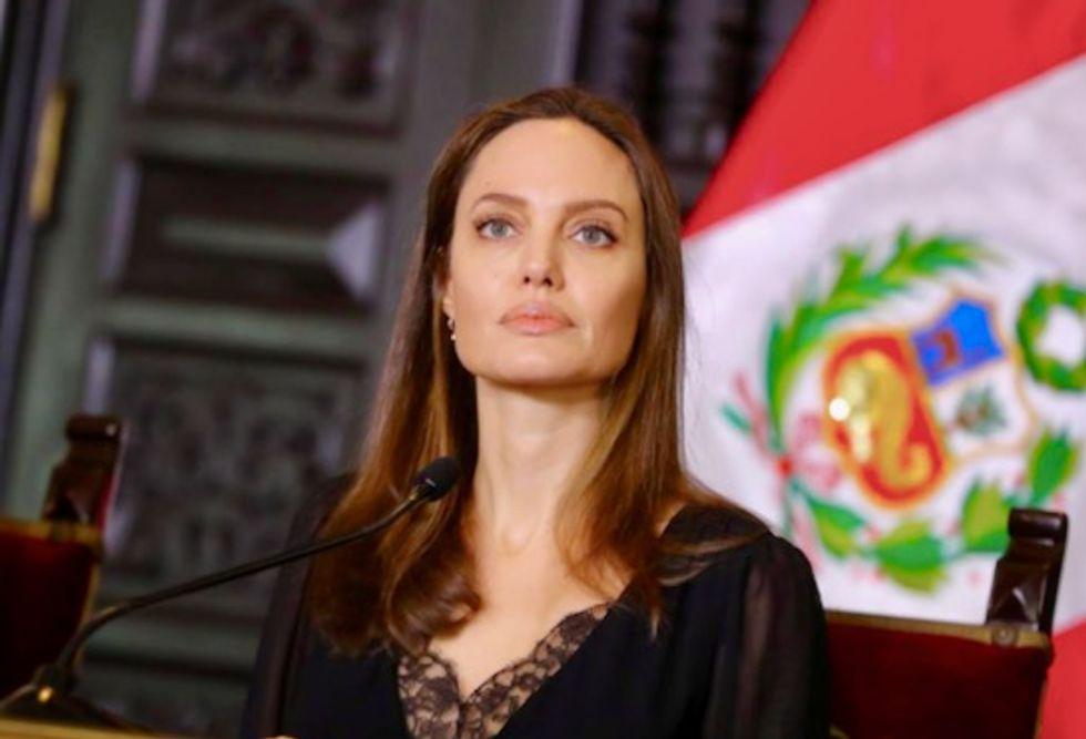 UN special envoy Angelina Jolie voices support for Venezuelan refugees