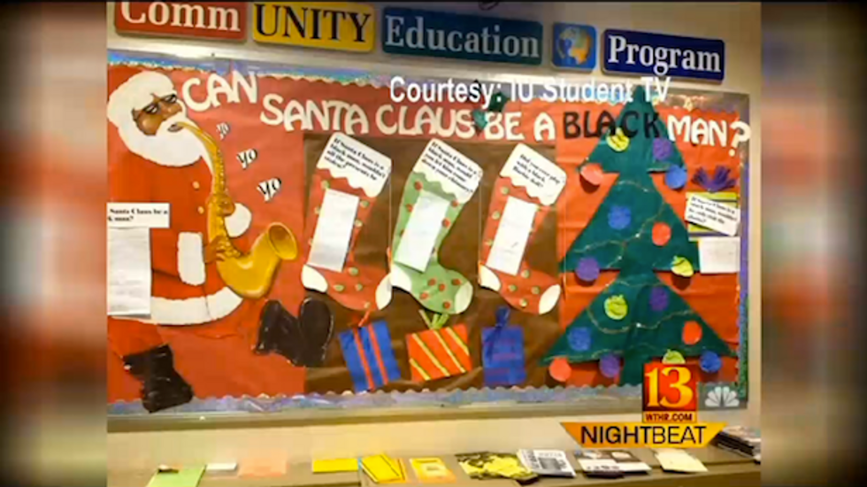 Indiana University display used negative stereotypes to ask: Can Santa Claus be black?
