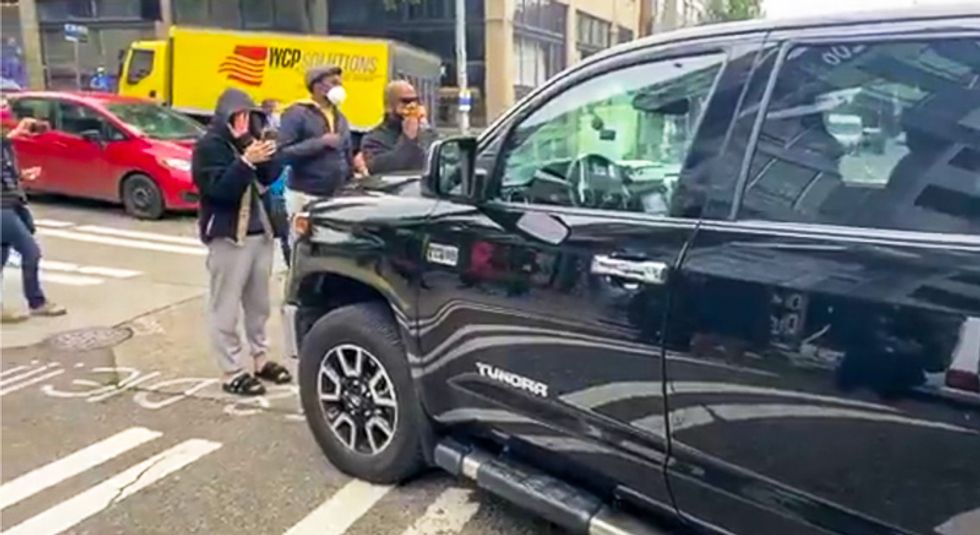 Fox News abandons vehicle in Seattle protest zone after hitting Black man: report