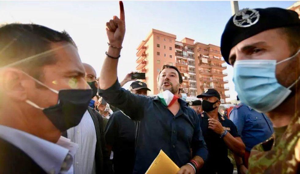 'Jackal': Crowd heckles Italy's far-right leader Matteo Salvini