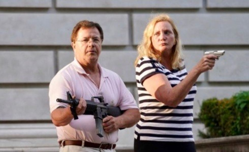 Gun couple warns GOP convention: citizens won't be safe in Democrats' US