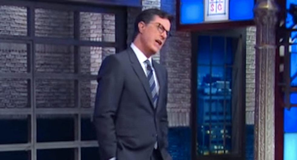 Stephen Colbert has one question for Donald Trump: 'What does Vladimir Putin's d*ck taste like?'