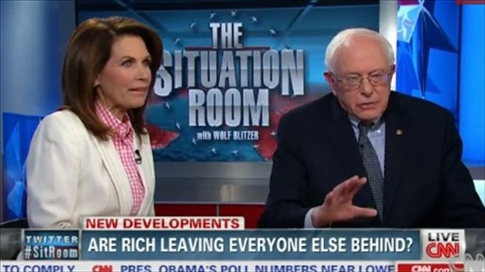 WATCH: Michele Bachmann and Bernie Sanders clash over income inequality