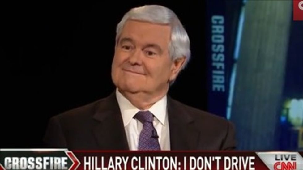 Newt Gingrich: Hillary Clinton wouldn't make a good president because she doesn't drive