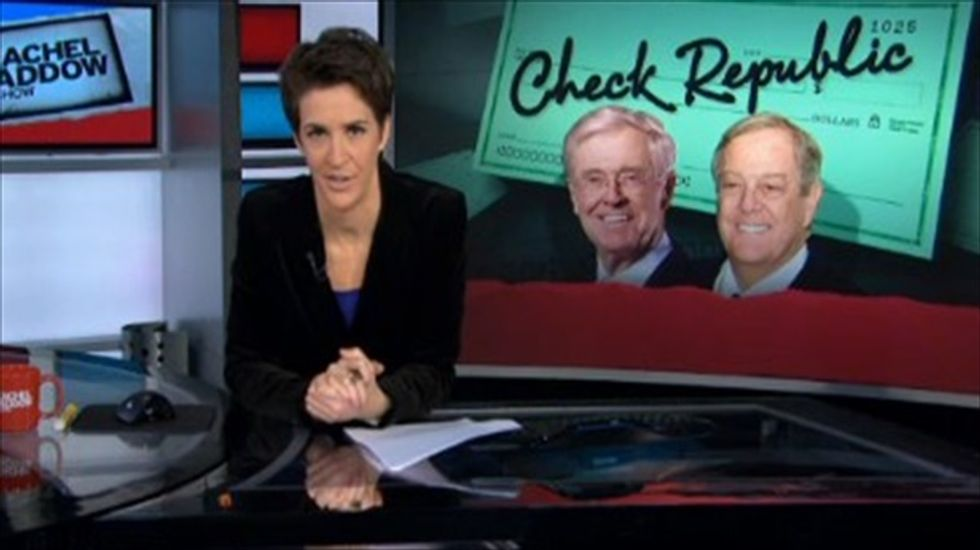 Rachel Maddow fends off Koch brothers' complaints with new proof of their meddling