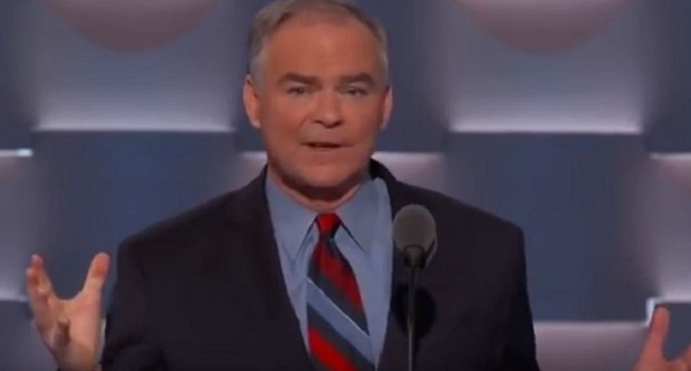Social media explodes with 'dad jokes' about Tim Kaine -- and these are the best of them