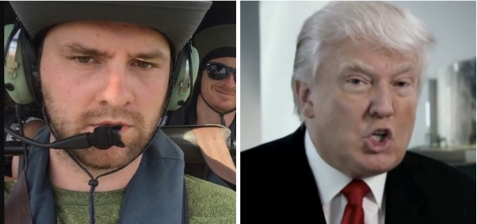 'We were literally on the helicopter': Journo who flew with Coast Guard owns Trump over anti-press jab