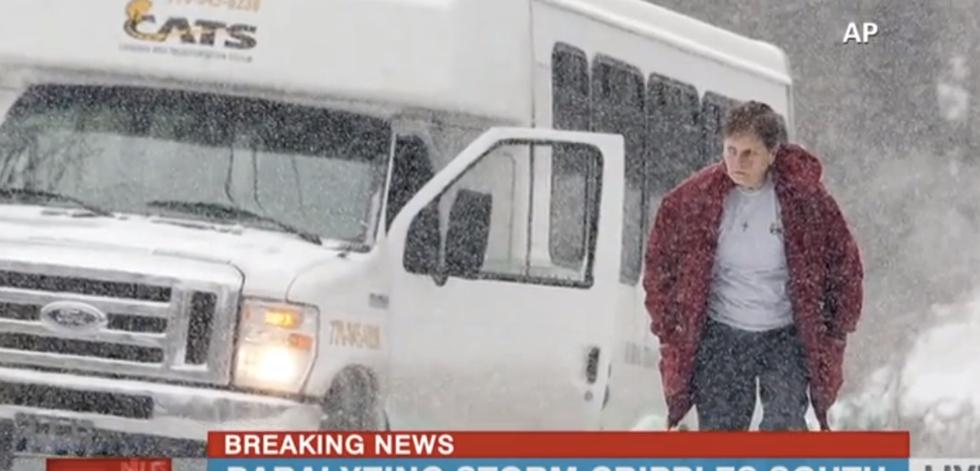 Calls for help flood social media as freak snowstorm turns Atlanta into 'frozen hellscape'