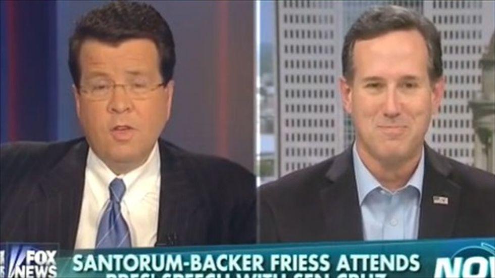 Neil Cavuto surprises Rick Santorum when he labels Republican SOTU response 'horrible'