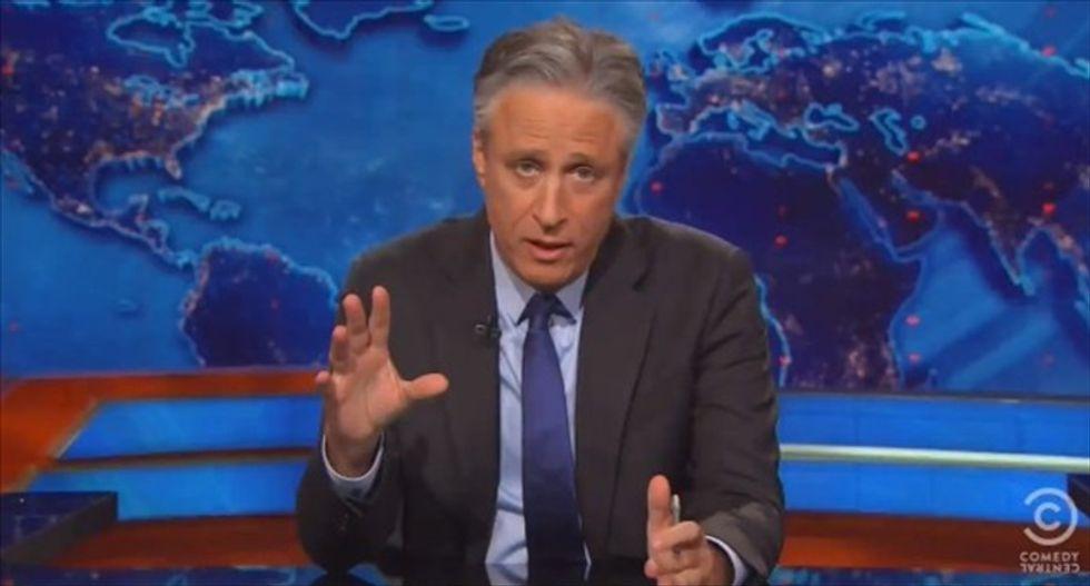 Jon Stewart mocks 'lone star lunatics' and 'Dallas d*cks' paranoia about Jade Helm 'Texas takeover'
